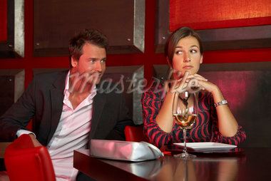 Man Flirting with Woman at Bar    Stock Photo - Premium Rights-Managed, Artist: Masterfile, Code: 700-01164025