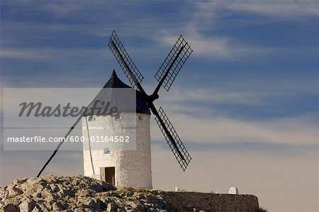 Exterior of Windmill, Castilla La Mancha, Ciudad Real Province, Spain