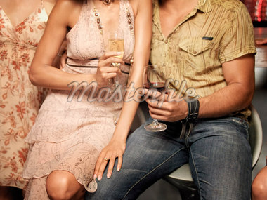 Group of People at Night Club    Stock Photo - Premium Rights-Managed, Artist: Mark Leibowitz, Code: 700-01164973