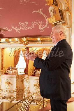 Man Applauding at the Opera    Stock Photo - Premium Rights-Managed, Artist: Masterfile, Code: 700-01185388