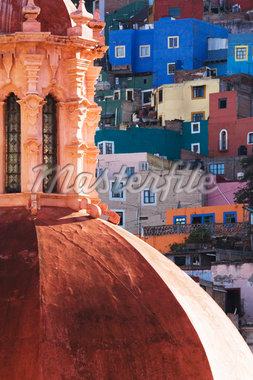 Church Dome, Guanajuato, Mexico    Stock Photo - Premium Rights-Managed, Artist: Jeremy Woodhouse, Code: 700-01195708