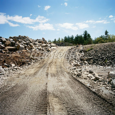 Dirt Road at Construction Site    Stock Photo - Premium Rights-Managed, Artist: Derek Shapton, Code: 700-01223377