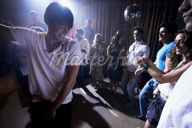 People Dancing in Night Club    Stock Photo - Premium Rights-Managed, Artist: Mark Leibowitz, Code: 700-01235970