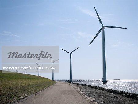 Windpark, Flevoland, Niederlande