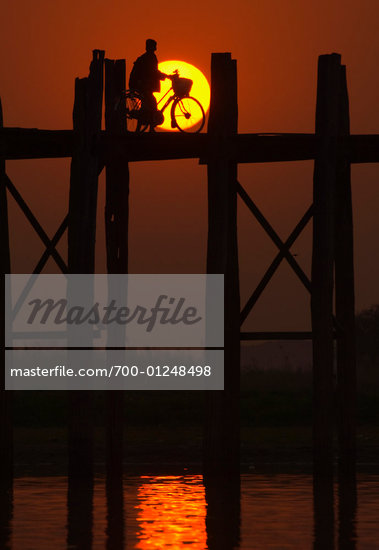 U Bein's Bridge, Amarapura, Myanmar    Stock Photo - Premium Rights-Managed, Artist: Jochen Schlenker, Code: 700-01248498