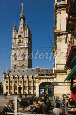 Terrace, Ghent, Belgium    Stock Photo - Premium Rights-Managed, Artist: Ben Seelt, Code: 700-01249366