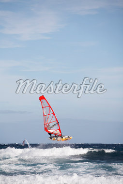 Windsurfing, Tenerife, Canary Islands, Spain    Stock Photo - Premium Royalty-Free, Artist: Kevin Arnold, Code: 600-01275464