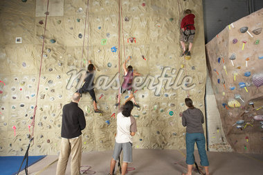 People in Climbing Gym    Stock Photo - Premium Rights-Managed, Artist: Masterfile, Code: 700-01344833