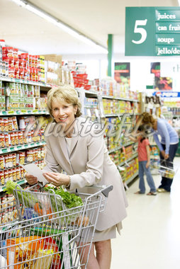 People Grocery Shopping    Stock Photo - Premium Rights-Managed, Artist: Noel Hendrickson, Code: 700-01345651