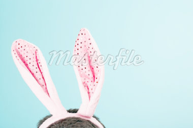 Young man wearing rabbit ears, high section Stock Photo - Premium Royalty-Freenull, Code: 613-01474901