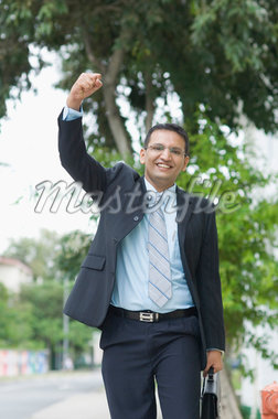 Portrait of a businessman smiling Stock Photo - Premium Royalty-Freenull, Code: 630-01492678