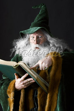 Wizard Reading a Book    Stock Photo - Premium Rights-Managed, Artist: Jerzyworks, Code: 700-01582190