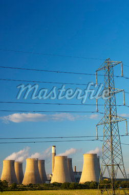 Coal Fired Power Station and Cooling Towers    Stock Photo - Premium Rights-Managed, Artist: JW, Code: 700-01586081