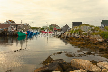 Fishing Boats in Peggy's Cove, Nova Scotia, Canada    Stock Photo - Premium Rights-Managed, Artist: dk & dennie cody, Code: 700-01614482