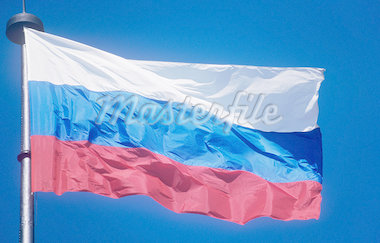 Russian flag Stock Photo - Premium Royalty-Freenull, Code: 614-01625758