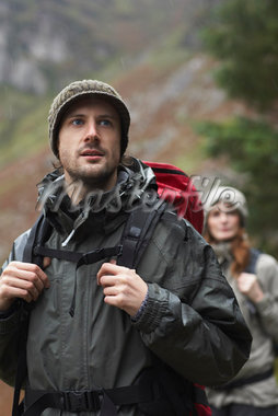 Couple Backpacking    Stock Photo - Premium Royalty-Free, Artist: Masterfile, Code: 600-01693947