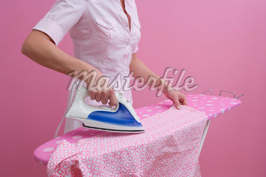 Woman Ironing Shirt    Stock Photo - Premium Rights-Managed, Artist: Marie Blum, Code: 700-01716882