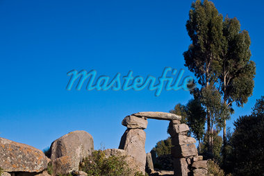 Old ruins on a landscape, Lake Titicaca, Taquile Island, Puno, Peru Stock Photo - Premium Royalty-Freenull, Code: 625-01753137