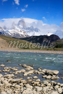 Rocky Riverbank, Rio de las Vueltas, Los Glaciares National Park, Patagonia, Argentina    Stock Photo - Premium Rights-Managed, Artist: F. Lukasseck, Code: 700-01827472