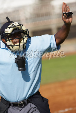 Baseball Umpire Gesturing    Stock Photo - Premium Rights-Managed, Artist: Masterfile, Code: 700-01838401