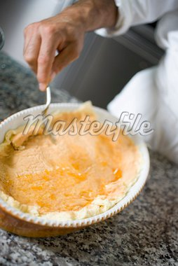 Spreading sponge with jam Stock Photo - Premium Royalty-Freenull, Code: 659-01858159