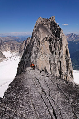 Climbers on Ridge, Bugaboo Mountains, British Columbia, Canada    Stock Photo - Premium Rights-Managed, Artist: Mike Randolph, Code: 700-01878810