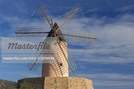 Windmill, Mallorca, Spain