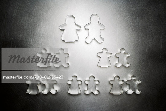 Gingerbread Men and Gingerbread Women Cookie Cutters, Family Tree    Stock Photo - Premium Rights-Managed, Artist: Ron Fehling, Code: 700-01955423