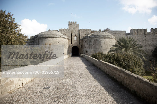 Fort, Rhodes, Greece    Stock Photo - Premium Rights-Managed, Artist: Derek Shapton, Code: 700-01955719