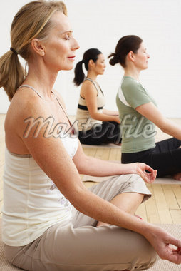 People Doing Yoga in Studio    Stock Photo - Premium Rights-Managed, Artist: Masterfile, Code: 700-02071504