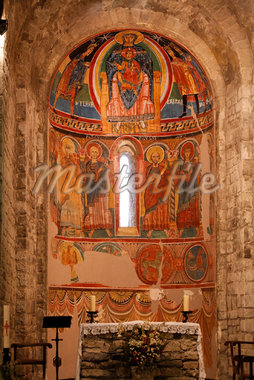 Interior of Santa Maria de Taull, Boi Valley, Catalunya, Spain    Stock Photo - Premium Rights-Managed, Artist: Mike Randolph, Code: 700-02121261