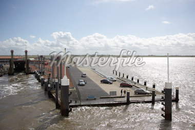 Ameland Ferry Docks, Holwerd Harbour, Netherlands    Stock Photo - Premium Rights-Managed, Artist: Derek Shapton, Code: 700-02129099