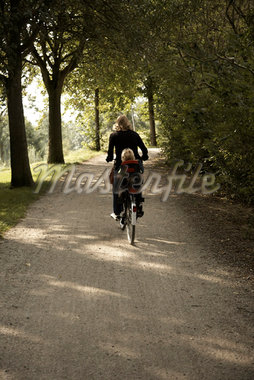Mother and Toddler on Bike    Stock Photo - Premium Rights-Managed, Artist: Derek Shapton, Code: 700-02129118