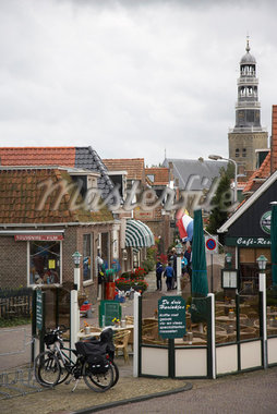 Tourist District, Hindeloopen, Netherlands    Stock Photo - Premium Rights-Managed, Artist: Derek Shapton, Code: 700-02129126