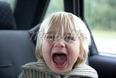 Toddler Screaming in Car    Stock Photo - Premium Rights-Managed, Artist: Derek Shapton, Code: 700-02129131