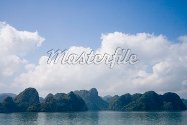 Mountainous Vietnamese coastline with clouds Stock Photo - Premium Royalty-Freenull, Code: 673-02140688