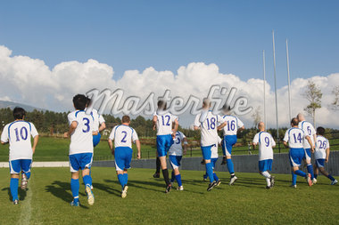 Soccer Team Warming Up Stock Photo - Premium Royalty-Freenull, Code: 622-02198528