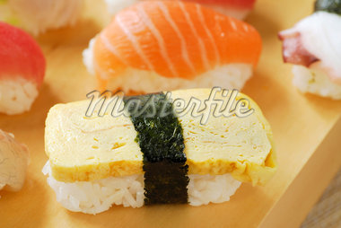 Tamago omelette Sushi Stock Photo - Premium Royalty-Freenull, Code: 652-02222374