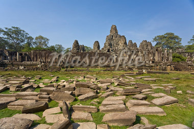 Bayon Temple, Angkor Thom, Angkor, Cambodia    Stock Photo - Premium Rights-Managed, Artist: J. A. Kraulis, Code: 700-02265619