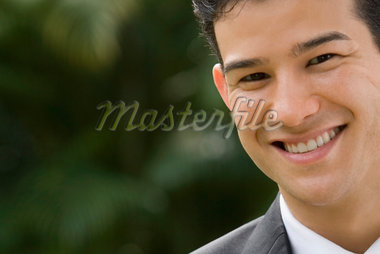 Portrait of a businessman smiling Stock Photo - Premium Royalty-Freenull, Code: 625-02267044