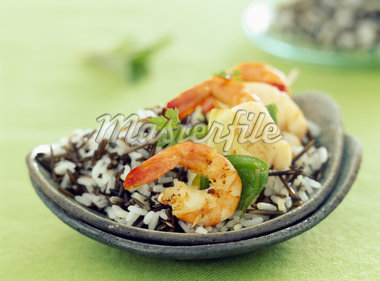 monkfish and tiger prawn skewers    Stock Photo - Premium Rights-Managed, Artist: Photocuisine, Code: 825-02305177