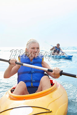 Woman and Man Kayaking    Stock Photo - Premium Royalty-Free, Artist: Jerzyworks, Code: 600-02346292
