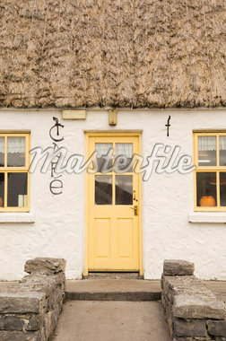 Door and Thatched Roof of Cafe, Kilmurvey, Inishmor, Aran Islands County Galway, Ireland    Stock Photo - Premium Rights-Managed, Artist: Lalove Benedict, Code: 700-02348665