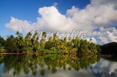 Overview of Bay, Huahine, French Polynesia    Stock Photo - Premium Royalty-Free, Artist: Jochen Schlenker, Code: 600-02590598