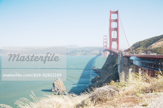 Golden gate bridge Stock Photo - Premium Royalty-Freenull, Code: 614-02612169