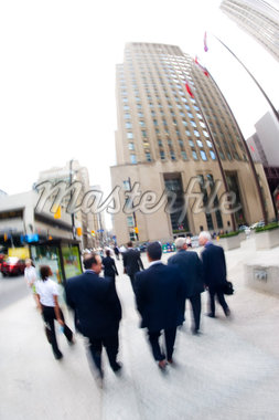 Group of Business People Walking in Downtown Toronto, Ontario, Canada    Stock Photo - Premium Rights-Managed, Artist: Rommel, Code: 700-02645930