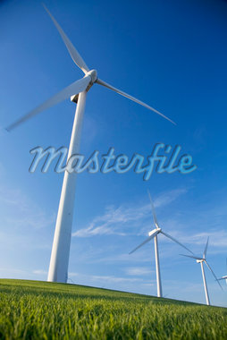 Wind Turbines, Bird's Landing, California, USA    Stock Photo - Premium Rights-Managed, Artist: Melissa Barnes, Code: 700-02698334