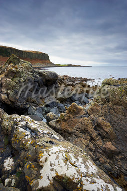 Rugged Shoreline of Drumadoon Point With The Doon Cliffs in the Background, Isle of Arran, North Ayrshire, Firth of Clyde, Scotland    Stock Photo - Premium Rights-Managed, Artist: Tim Hurst, Code: 700-02700661