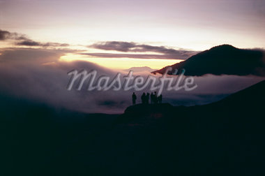 People watching the sunrise, Mount Bromo, island of Java, Indonesia, Asia    Stock Photo - Premium Rights-Managed, Artist: Robert Harding Images, Code: 841-02705073