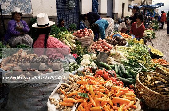 Street market, Cuzco, Peru, South America    Stock Photo - Direito Controlado, Artist: Robert Harding Images, Code: 841-02708290